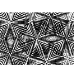 abstract spiral background twirl black and white vector image