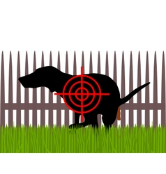 Aim at dogs crapping vector image