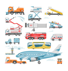 airport vehicle aviation transport in vector image
