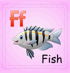 Animals alphabet f is for fish vector