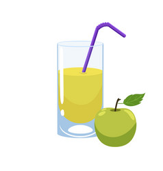 Apple juice isolate on a white background vector