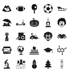 Apprentice icons set simple style vector