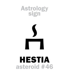 astrology asteroid hestia vector image
