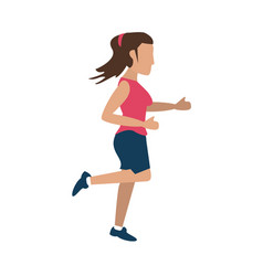 Avatar running icon image vector