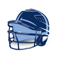baseball helmet isolated vector image
