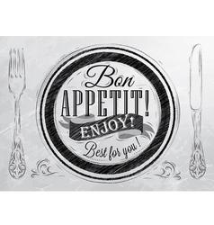 Bon Appetit coal vector