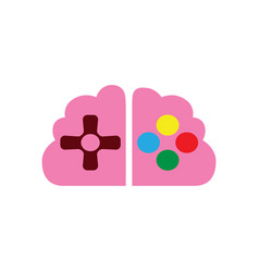 brain and analog gaming master console gamer vector image