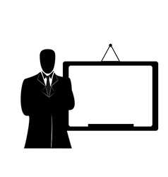 businessman with whiteboard vector image