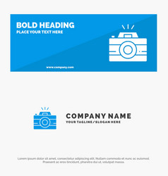 Camera image photo photography solid icon website vector