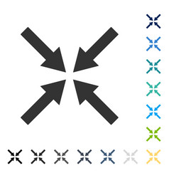 Center arrows icon vector