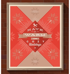Christmas greeting type design vector