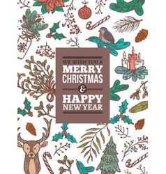 christmas holiday greeting card vector image