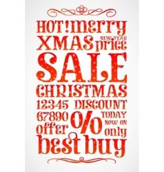 Christmas sale template vector