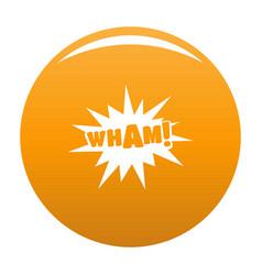 comic boom wham icon orange vector image