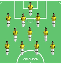 Computer game Colombia Football club player vector