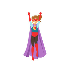 cute girl character dressed as a super hero vector image