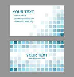 Cyan abstract business card template design vector