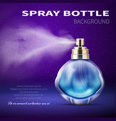 Deodorant bottle with translucent water spray mist vector