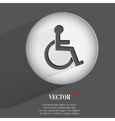 disabled Flat modern web button with long shadow vector image
