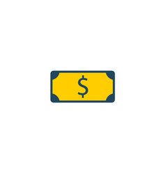dollar icon flat element of vector image