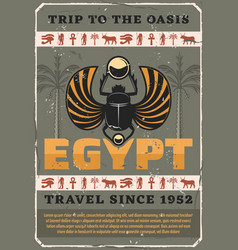 egypt symbol sacred scarab bug vector image