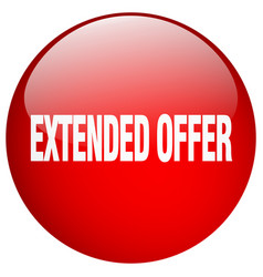 Extended offer red round gel isolated push button vector