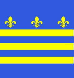 Flag of montreuil in pas-de-calais of vector