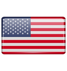 Flags USA in the form of a magnet on refrigerator vector