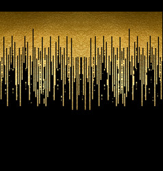 gold texture lines decoration on black vector image