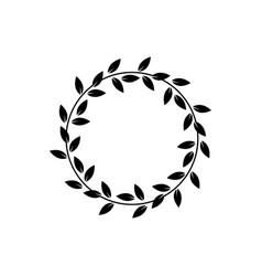Greek laurel or olive winner award wreath or leaf vector