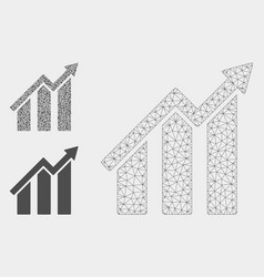 growth chart mesh carcass model and vector image