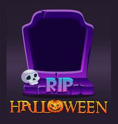 Halloween rip avatar frame creepy grave for ui vector