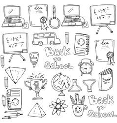 Hand draw onject school doodles vector