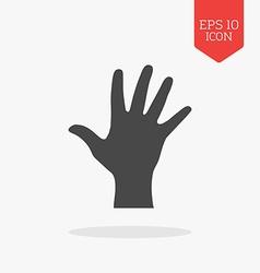 Hand palm icon Flat design gray color symbol vector image