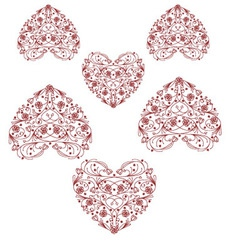 Heart print vintage heart design graphic vector