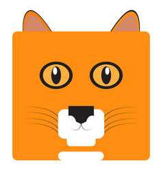 isolated cat face vector image