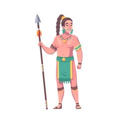 Maya warrior vector