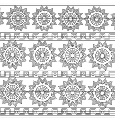 Mexican tribal art background vector