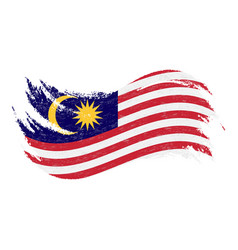 National flag of malaysia designed using brush vector