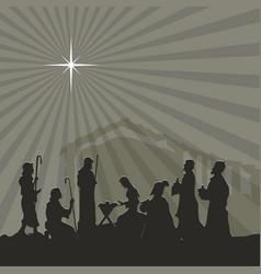 Nativity jesus christ vector