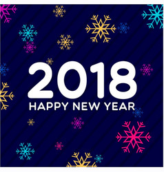 New year 2018 colorful snow background vector