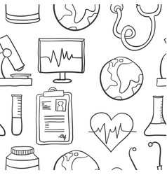 Object medical doodles vector