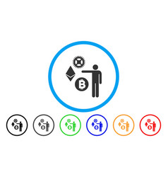 person show cryptocurrency flat icon vector image
