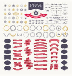 Premium design elements great for retro vintage vector