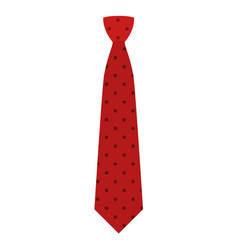 Red tie icon flat style vector
