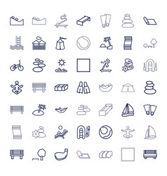 Relaxation icons vector