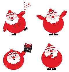 Santa cartoons vector