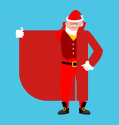 santa claus smuggler selling something template vector image