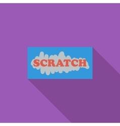 Scratch card vector image