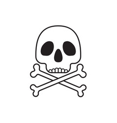 Scull with bones crossed vector
